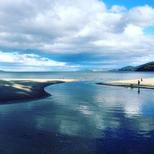 Beach and river scene